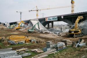 Abbruch Neckarbrücke in Mannheim