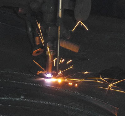 Steck CNC Brennanlage
