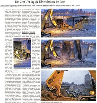 Abbruch in Augsburg: Ulrichsbrücke