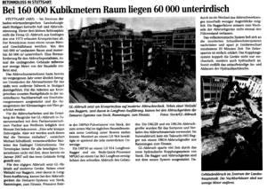 Im Zentrum von Stuttgart wird der Kronprinzbau abgerissen.
