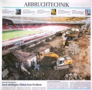 ABZ 24/04: Teilabriss Gottlieb-Daimler-Stadion in Stuttgart