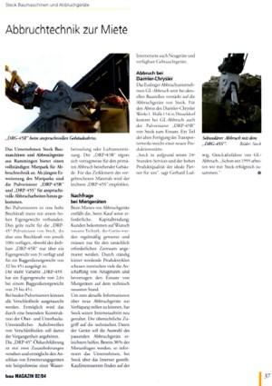 Artikel bau MAGAZIN 02/2004