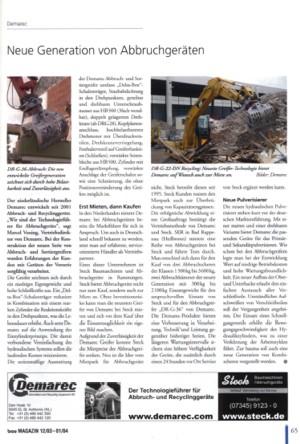Artikel bau MAGAZIN 12/03