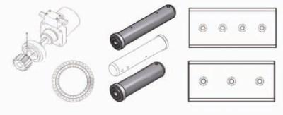 Ersatzteile: Messer, Bolzen, Drehdurchführung, Drehkranz und Drehmotor passend zu Abbruchgreifer Demarec