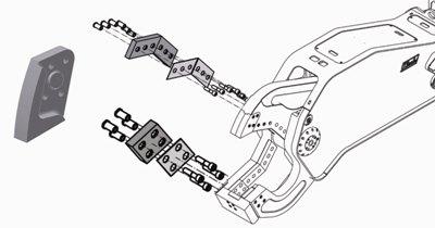 Ersatzteile: Messer, Bolzen, Drehdurchführung und Drehmotor