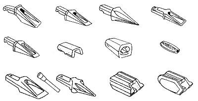 Bofors-System Zähne, Hülsen,Halter und Sicherung