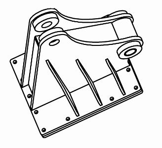 Adapterplatte Auslegeranbau - System