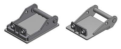 Adapterplatte Lehnhoff- System für Anbaugeräte oder Tieflöffel